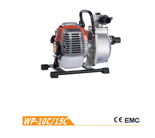Mini gasoline water pump WP-10C with 2 stroke for sale garden tools 42.7cc mini water pump(China (Mainland))
