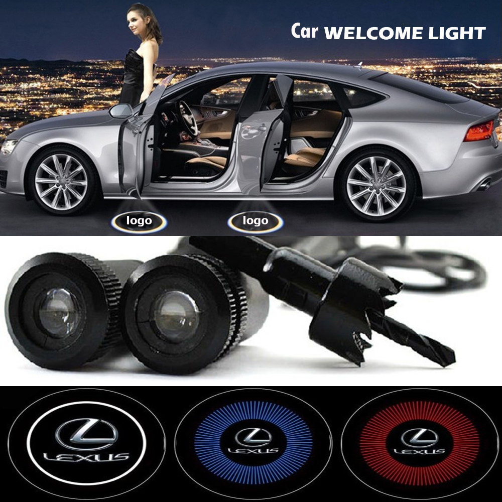 Save 20% 2 x CREE LED Car Door Logo Light Laser Welcome Ghost Shadow Projector Lexus LS GS CT ES IS RX GX  -  Gaz Rom Co., Ltd.  store