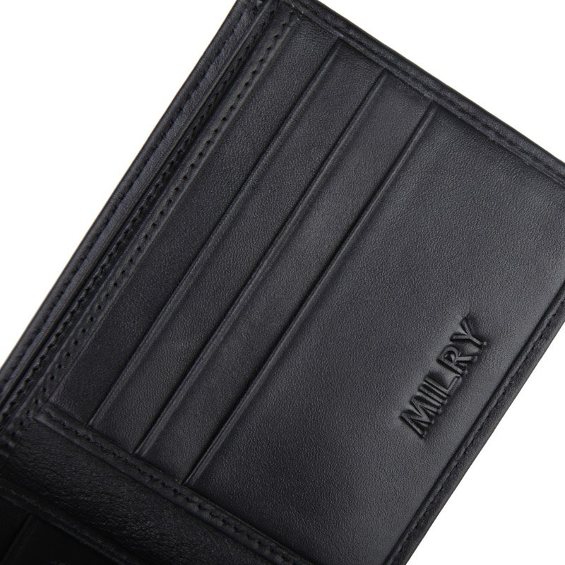 Hot sale 2013 Fashion Brand New MILRY 100% Genuine Leather Men Wallet  Purse money clip for men Free shipping to RU  M08C0028