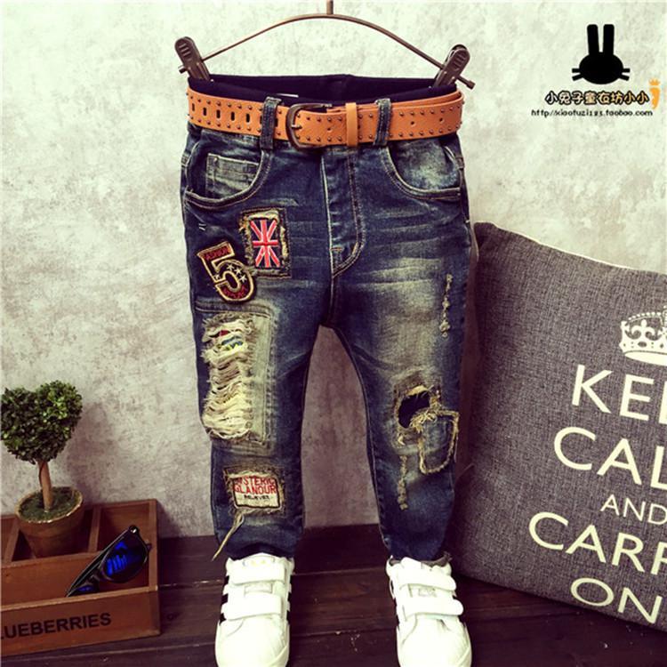 Рваные джинсы для мальчика