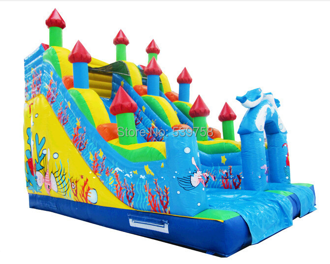 Factory direct inflatable castle slide, inflatable bouncer, inflatable fun city, inflatable slides CN-038(China (Mainland))