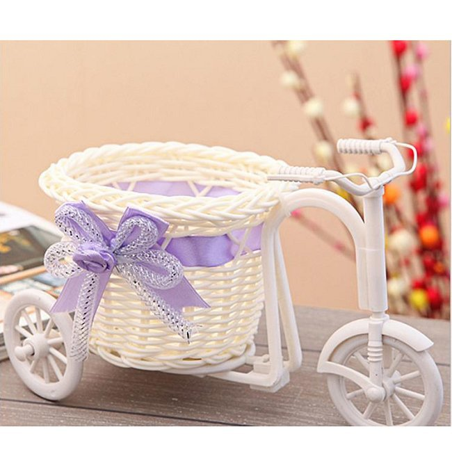 Bikes With Baskets That Are Hot Pink Hot pc bike flower pot
