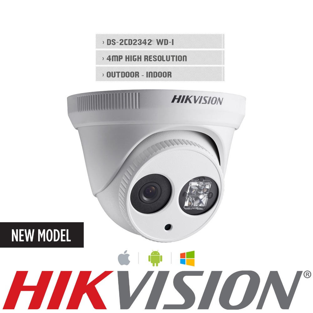 HIK IP Security Camera English version DS-2CD2342WD-I 4MP 2.8mm support update H.264 Free Ship from USA IP Dome Camera(China (Mainland))