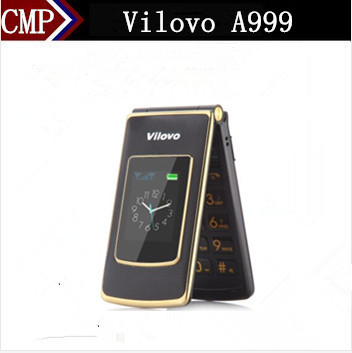 Original Vilovo A999 Flip Mobile Phone 2.4 Inch Touch Screen Dual Sim Card Camera Big Letter Big Button Old Man Mobile Phone(China (Mainland))
