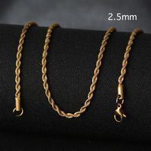 10 sztuk/partia próżniowe platerowane srebrem złota różowe złoto stałe naszyjnik Curb łańcuchy Link mężczyźni łańcuszek na akcesoria ze stali nierdzewnej S-012 * 10(China)