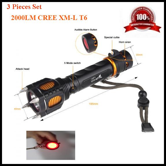 3PCS 2000 Lumens CREE XML T6 Flashlight Waterproof Flash Light Torch Lamps Lantern Penlight Camping Hunting Spotlight For 18650<br><br>Aliexpress