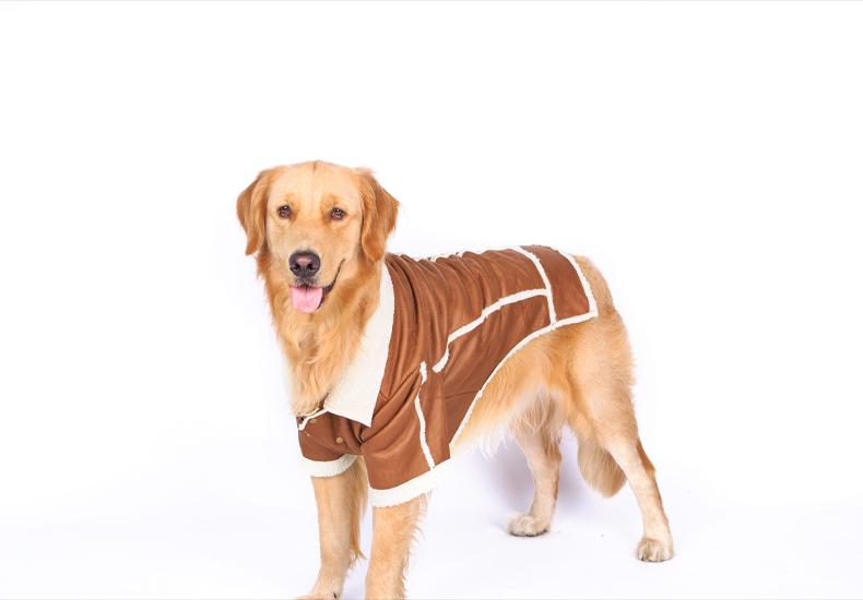 Punk New Big Dog Jacket Coat Clothes Dog Winter High Quality Large Dog Clothing Dog Costume Soft Warm Coats Pet Products 8 Size(China (Mainland))