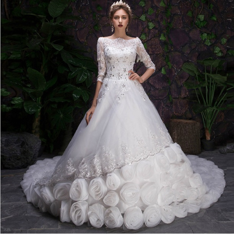 2015 vestidos de novia sexy swarovski crystal wedding dress mariage bridal gown casamento - Aliexpress Mariage