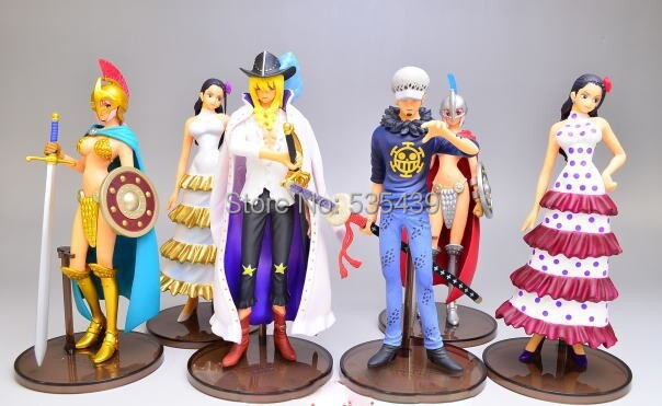 hot ! NEW 6pcs/set 14cm latest report One piece luffy Dracule Mihawk Nico Robin action figure toys Christmas toy<br><br>Aliexpress