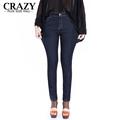 2016 New Plus Size Stores Women 6XL 5XL 4XL Big Size Denim Black Skinny Jeans 40