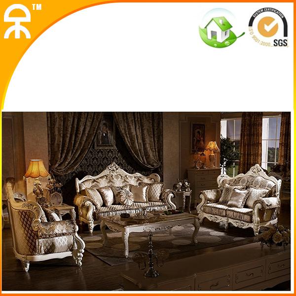 1+2+3 seat /lot import Gold fabric sofa set for big villa living room #CE-GY-9040(China (Mainland))