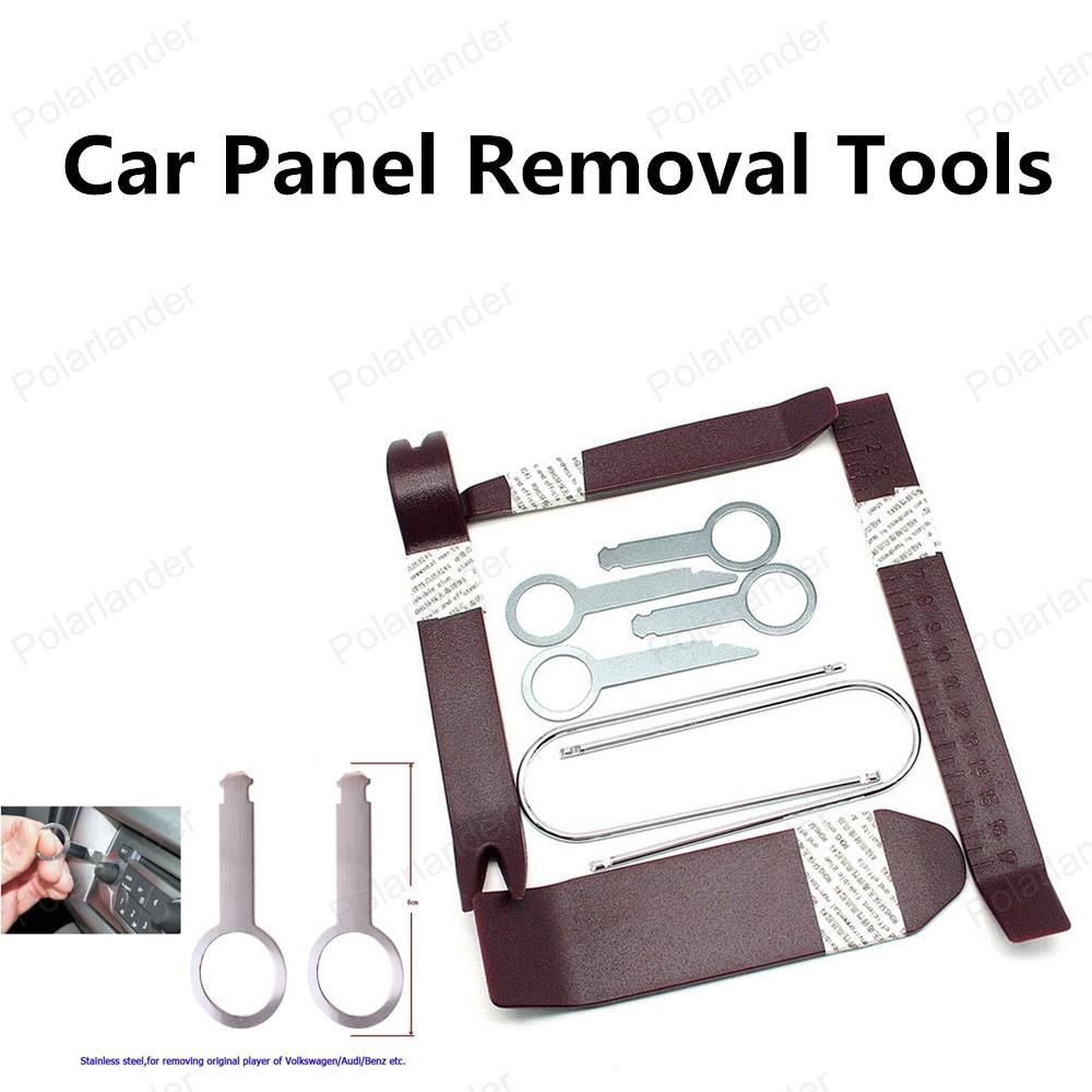 Высокое качество 10 шт./компл. ремонт автомобилей комплект инструментов автомобиля средство для удаления панели комплект инструментов новый бесплатная доставка