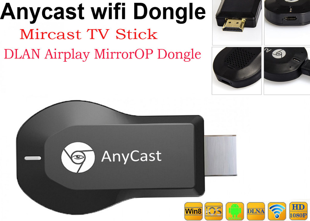 Anycaset Plus Miracast Wireless TV Dongle DLNA Airplay MirrorOP Stick Android IOS Better Chromecast - Icablelink Electronics Limited store