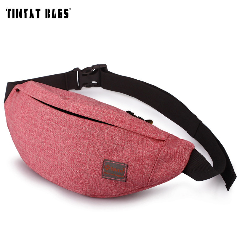 TINYAT Women Female Casual Functional Fanny Bag Waist Bag Money Phone Belt Bag Cute Purse T201 Red /Orange Available
