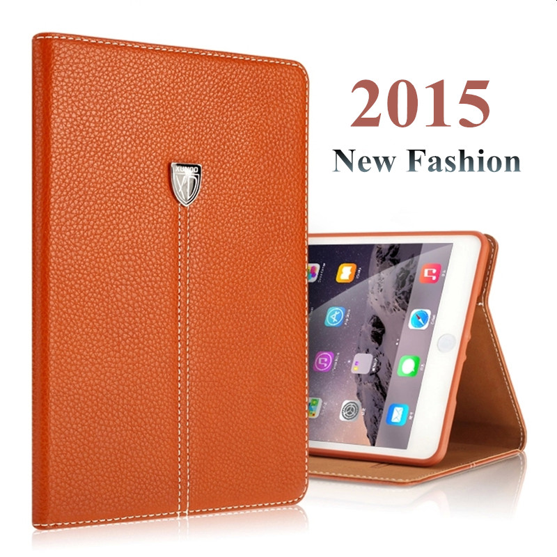 Business Style Brand Luxury Genuine Leather Case for iPad Mini 3 Flip Wallet Smart Cover Tablet Stand Case for iPad Mini 2 3(China (Mainland))