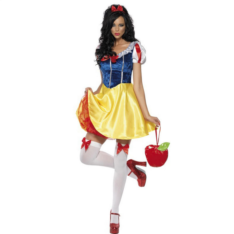 Plus Size Adult Snow White Costume Carnival Halloween Costumes For Women Fairy tale Clothes Dress Female XL-in Clothing from Novelty & Special Use on Aliexpress.com | Alibaba Group