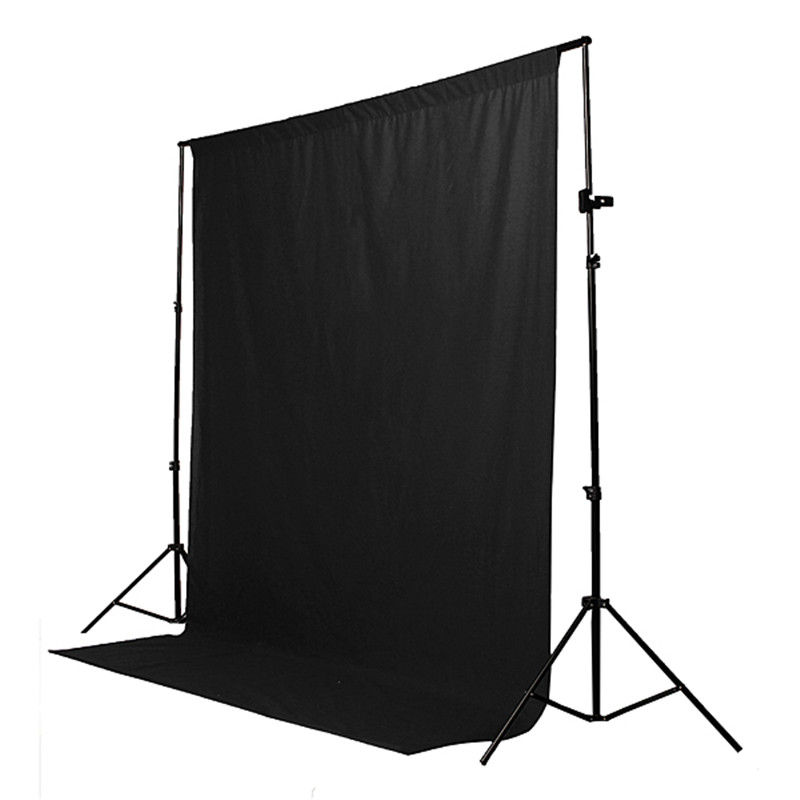 Hot Sale High Quality Black Cotton Non-pollutant Textile Muslin Photo Backgrounds Studio Photography Screen Chromakey Backdrop<br><br>Aliexpress