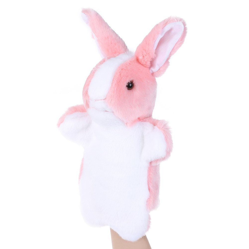New Arrival Lovely Animal Cute Rabbit Design Fluffy Plush Kids Hand Puppets Toy 2016 Hot Sale Soft Comfortable Design(China (Mainland))