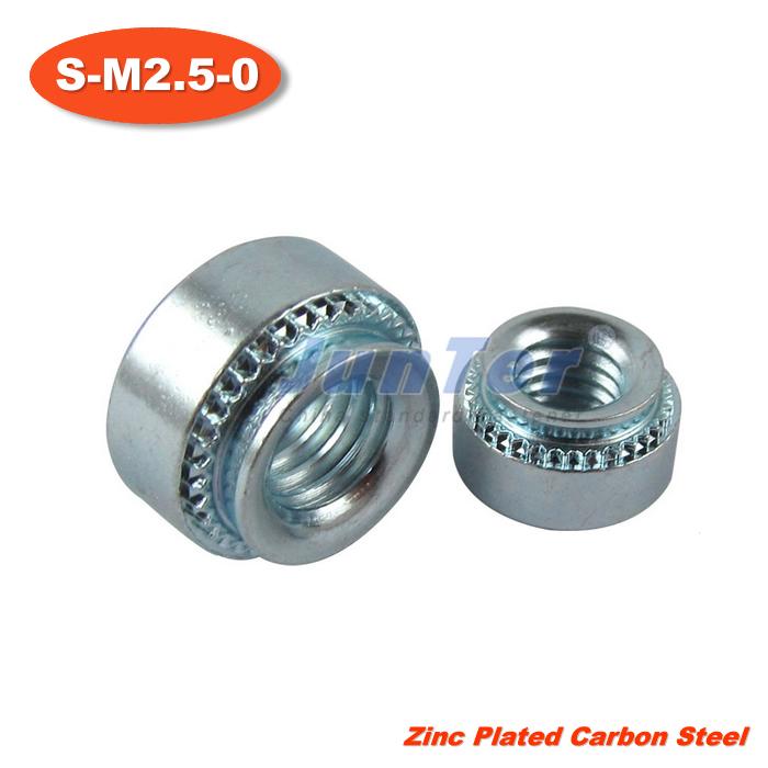 100pcs/lot S-M2.5-0 Zinc Plated Carbon Steel Self Clinching Nuts<br><br>Aliexpress