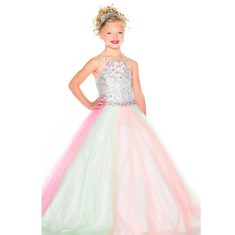 Многоцветный кристаллы бальное платье детские платья театрализованное платья святого причастия платья vestidos де comunion
