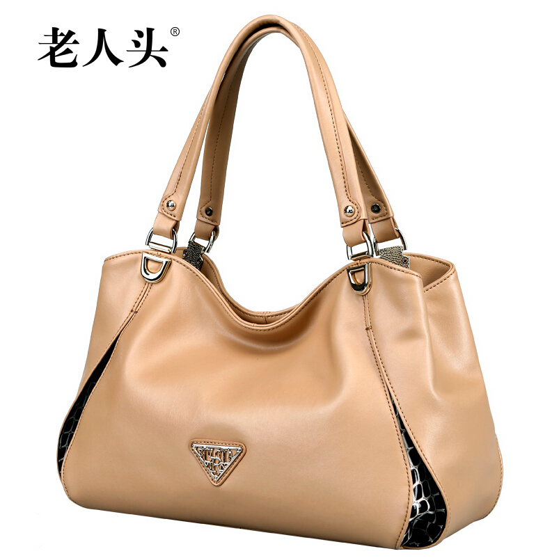 LAORENTOU   The new 2015 fashionable pure color socialite hand the bill of lading shoulder leather handbag <br><br>Aliexpress