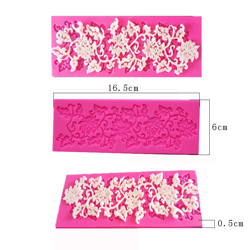 Flower +leaf design shape Silicone 3D Molds Cookware Dining Bar Non-Stick Cake Decorating fondant soap mold 50-113(China (Mainland))