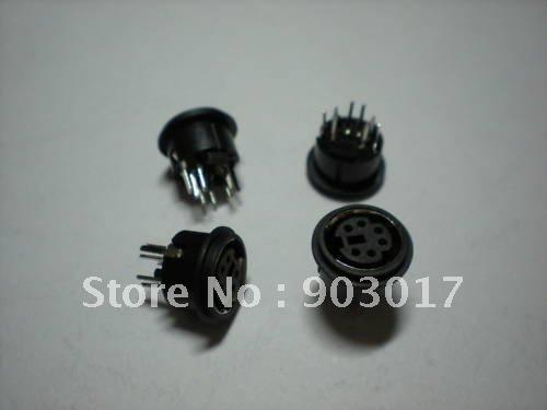 Mini 4 Pin 5 Pin 6 Pin 8 Pin Circular PCB Mount DIN Connector 30 Pcs Per Lot