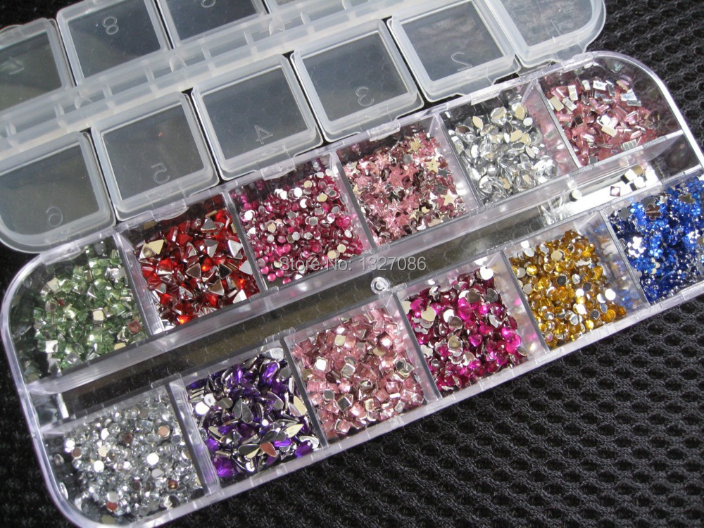 ... Nail-Art-Sticker-Gems-Rhinestones-Deco-Glitters-Beautiful-Nail