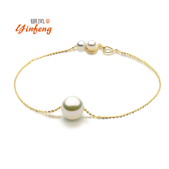 925 Sterling silver top qualityone bead natural freshwater pearl chain bracelet for women 2 styles fashion charm bangle