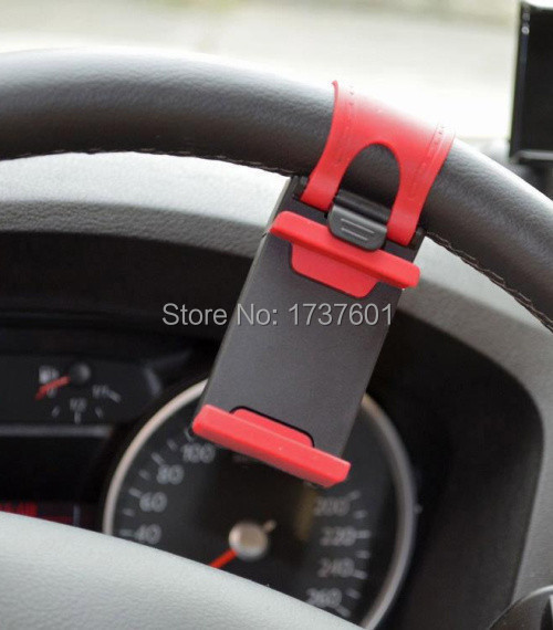 2015 New Universal Car Steering Wheel Mount Holder stand Rubber Band iPhone 5 6 sony xperia Z2 GPS Phone adapter - shenzhen-hhsm-mart Store store