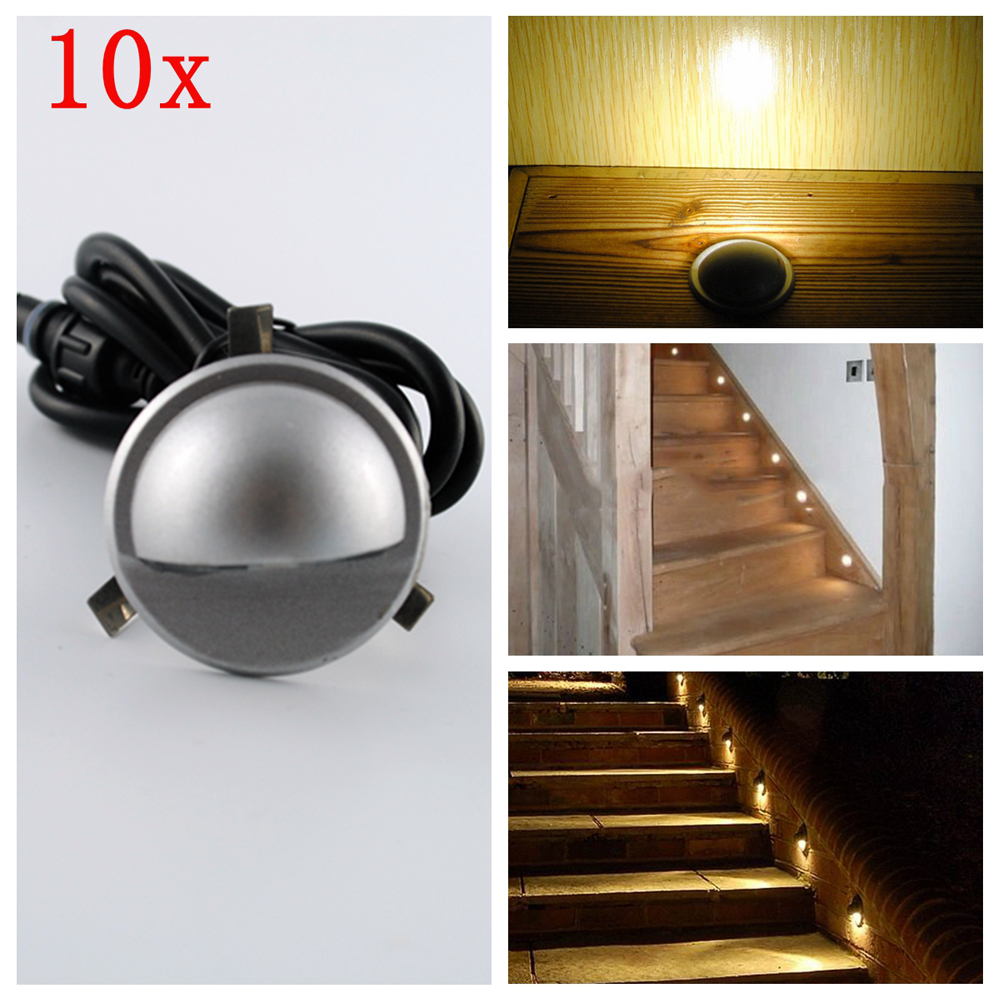 7Colors 10pcs Lots Indoor And Outdoor LED Step Stair Lighting Fixtures Waterp