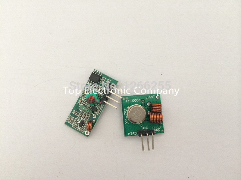 Rf mhz transmitter receiver module and arduino