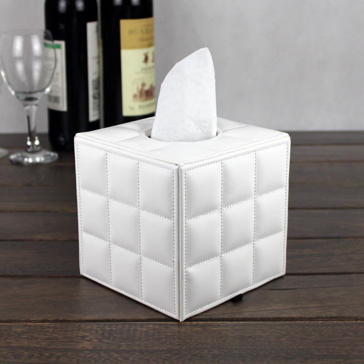 Desk decoration type napkin box fold paper towel tube for Application box decoration