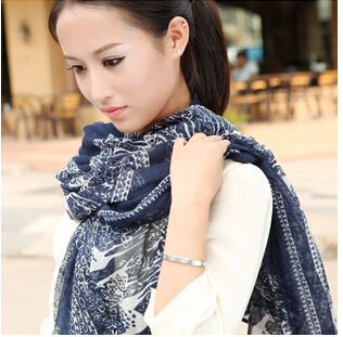 New Fashion Stylish Personality Beautiful Popular New Winter Korean Version Of The Disc Deer Long Lady Scarf S15(China (Mainland))