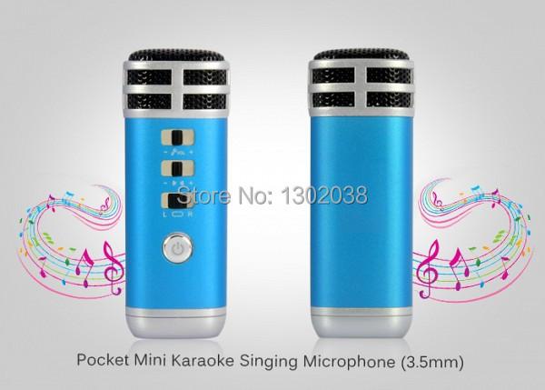 Free Shipping!!Mini Pocket Microphone KTV Karaoke Player Portable for iPhone / iPad/PC/MP3/MP4/MP5