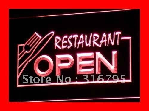 i141-r OPEN Restaurant Display Bar Pub LED Neon Light Signs(China (Mainland))