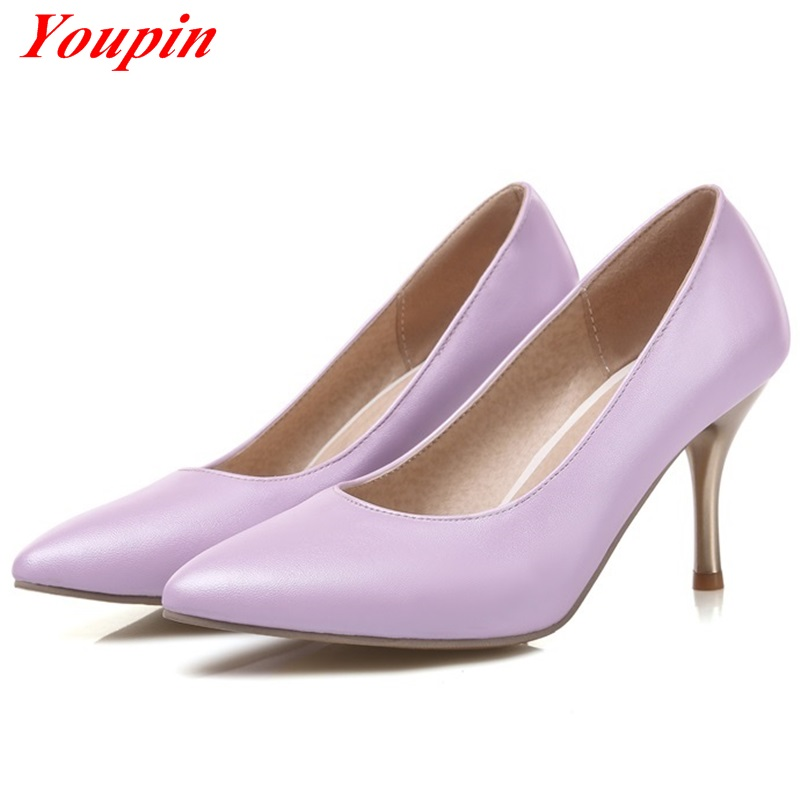 Shallow mouth high quality Thin Heels 2016 Pointed Toe Spring/Autumn Elegant women's shoes Office Lady Wild section pumps shoes