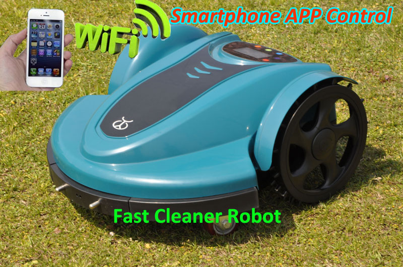 China Original Cheaper Robot Lawn Mower TC-158N Updated withNewest WIFI APP Lithium Battery,Auto Recharge,Schedule(China (Mainland))