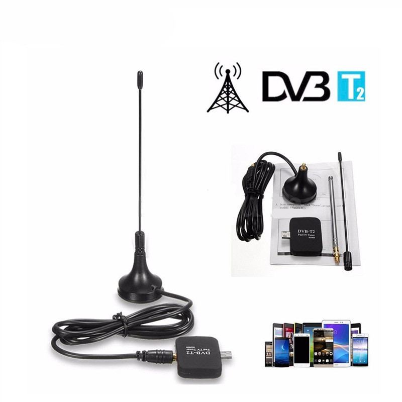 Newest DVB-T DVB-T2 receiver HD digital TV tuner DVB T/T2 satellite receiver usb dongle for Phone Pda Android DVBT2 DVBT antenna(China (Mainland))