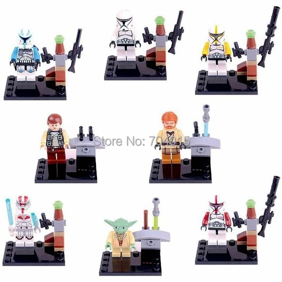 Star Wars Super Heros Lot 8 Set Mini Action Figures Building Block Toy Kids Gift New Compatible Lego - Best Service Store A1 store
