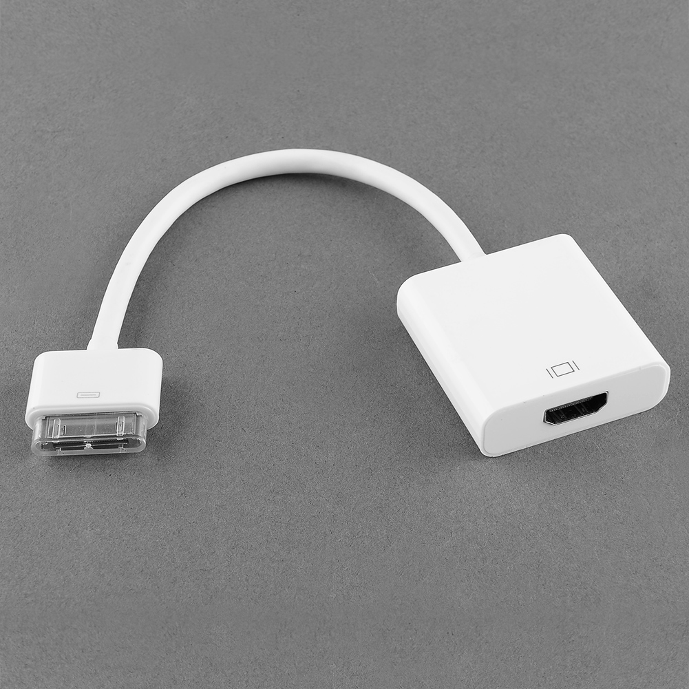1080P Video Audio AV to HDMI HDTV Dock Adapter Cable for Apple Hot iPad High Quality iPhone 4 4G 1PC(China (Mainland))