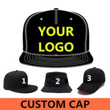 Wholesale 500 pcs Adult Customized Baseball caps LOGO Embroidery snapback cap Customized hats Free ship Via DHL, FEDEX,UPS(China (Mainland))