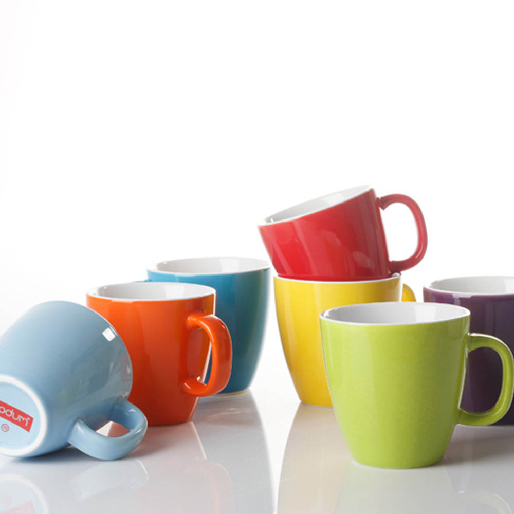 Top Fashion Porcelain Mug New Coffee Cup Candy Color for Chidren 150ml Mug(China (Mainland))