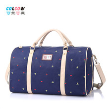 Hot Selling Kaukko Bag Latest Leisure Fashion Canvas Cotton Large Capacity Portable Sport  Bag for Women Men's Travel Tote(China (Mainland))