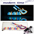 New 40 30 CM Car Sticker Colorful Led Sound Control Music Light Guitar Pattern car Music