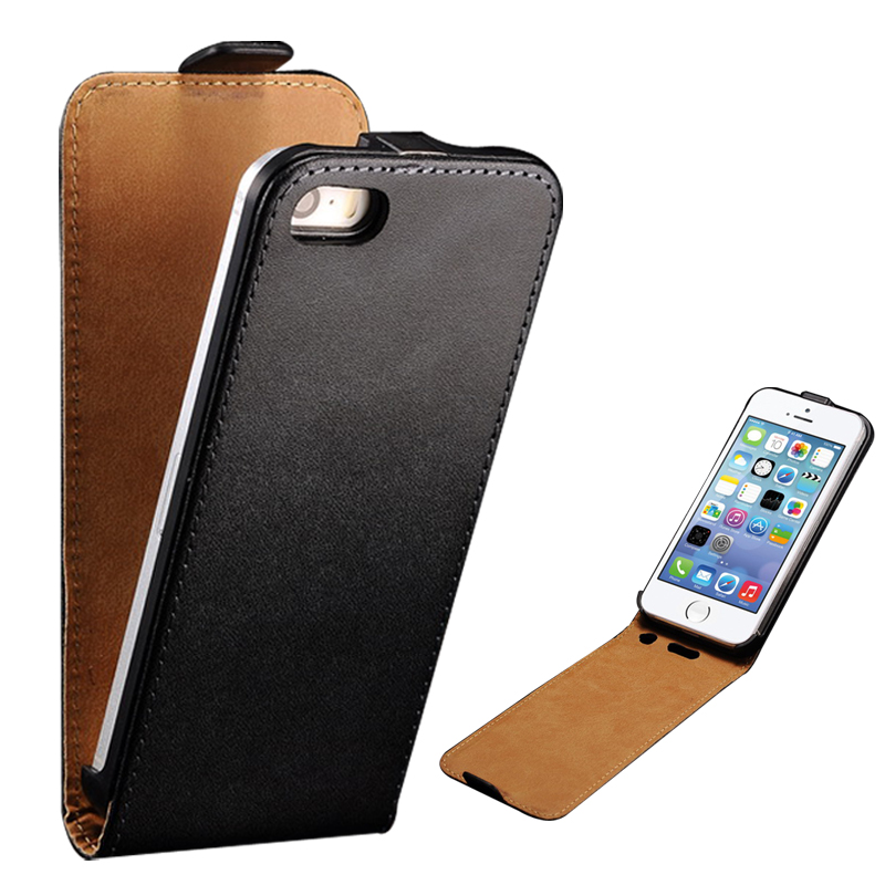 Grenuine Leather Case iPhone 5 5S SE Coque Luxury Card Slot Fashion Flip Style Phone Cover 5s - Tomkas Official Store store