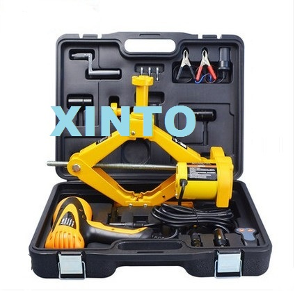 For 2T sedan, SUV 12v electric jack with electric wrench Auto electric hydraulic jack car lift tire repair tools toolkit winch(China (Mainland))