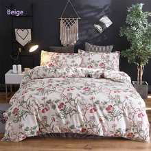 WAZIR Flowers and Grass Patterns Bedding Set Quilt Cover Pillow Case Bedroom Three Piece Set(China)