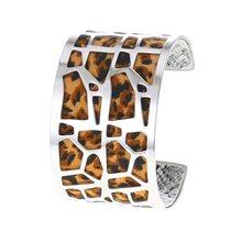 Cremo Giraffe Bangles Dainty Bracelets Argent Femme Manchette Cuff Stainless Steel Bracelet Interchangeable Leather Pulseiras(China)