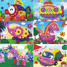 12 Patterns Kids Foam Mosaic Stickers Art Puzzle DIY 3D Diamond Pasted Cartoon Character Children's Educational Toys(China (Mainland))